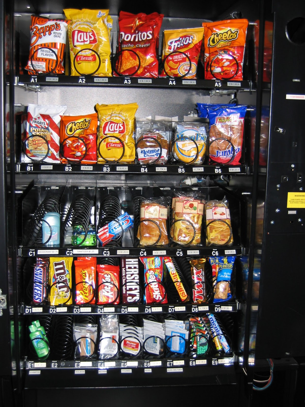 snack machine vendors