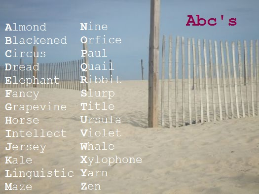 Ways To Be Creative Write A Word For Each Letter Of The Alphabet Uncustomary