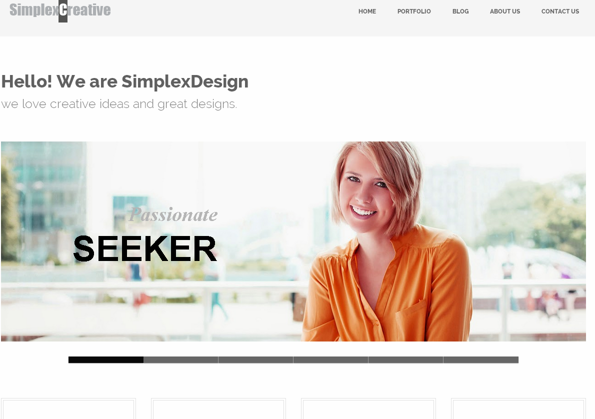 SimplexCreative Blogger Template