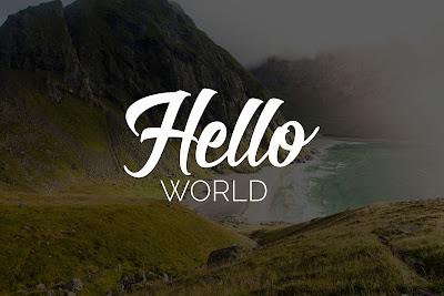 Hallo Dunia - Rian Herdiana Blog