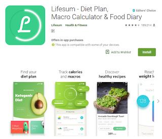 Aplikasi lifesum diet plan