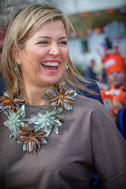 Queen Maxima of The Netherland visited Dorpshuis Ons Genoegen (Village Our Pleasure) in Nieuwer Ter Aa