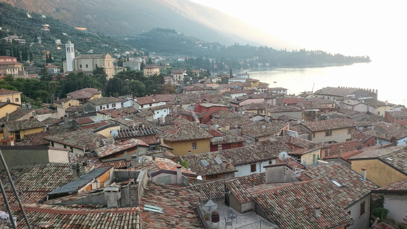 The rooftops of Malcesine seen from the castle