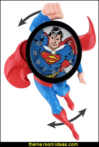 Superman Motion Wall Clock