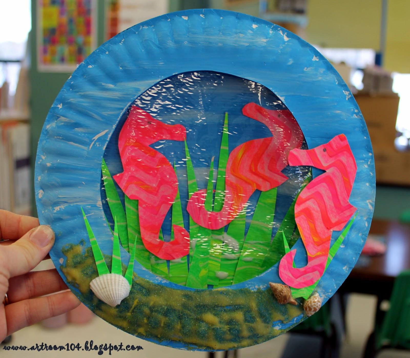 Art Room 104 Eric Carle S Mr Seahorse Part Deux