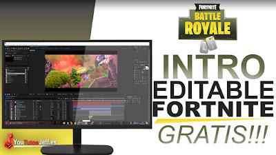 intro fortnite, intro editable de fortnite, after effects, intros editables, descargar intros editables
