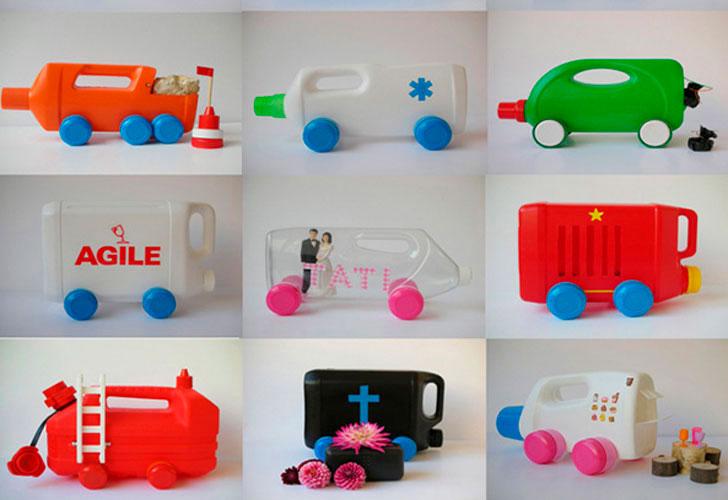Ideas para reciclar botellas de pl stico caf largo de for Decoraciones de botes de plastico