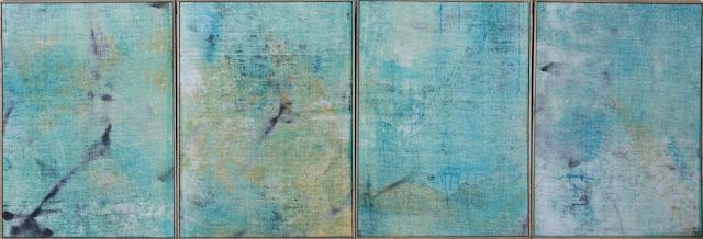 peintre contemporain sur toile brute