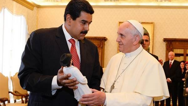 Maduro y Francisco se reunieron en el Vaticano en octubre de 2016