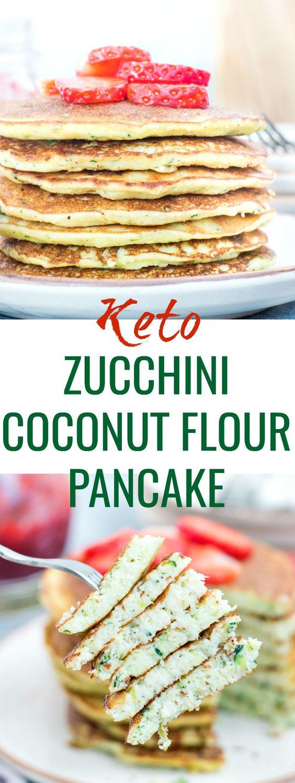 Zucchini Coconut Flour Pancakes