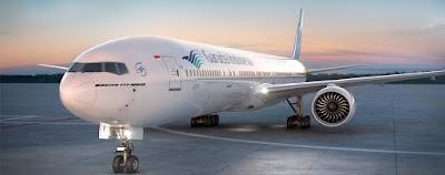Pesawat Garuda menuju Hongkong
