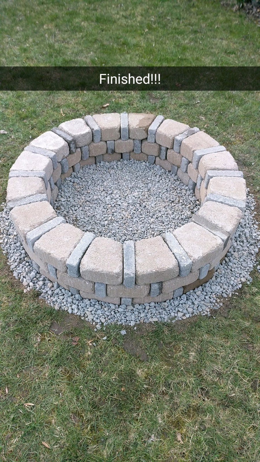 diy brick fire pit for only 80. Black Bedroom Furniture Sets. Home Design Ideas