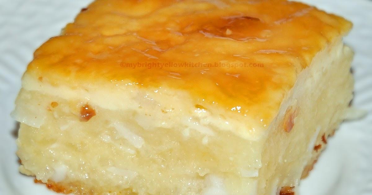 No Bake Cassava Cake Filipino Style