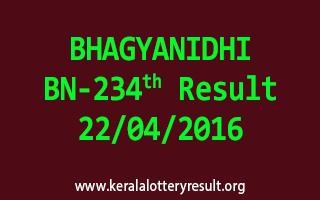 BHAGYANIDHI BN 234 Lottery Result 22-4-2016