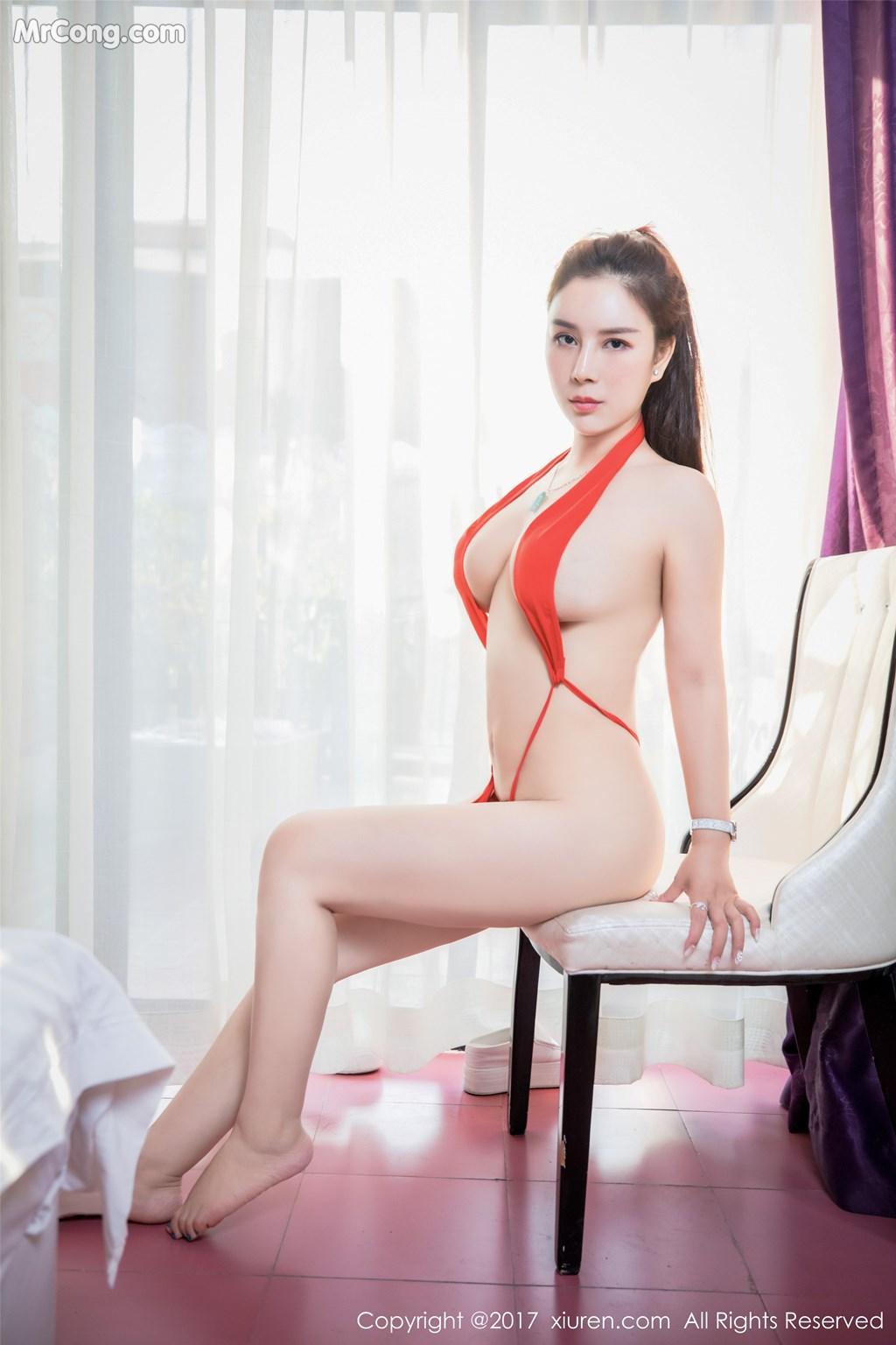 Image XIUREN-No.839-Xue-Qian-Xun-MrCong.com-037 in post XIUREN No.839: Người mẫu Xue Qian Xun (雪千寻) (44 ảnh)