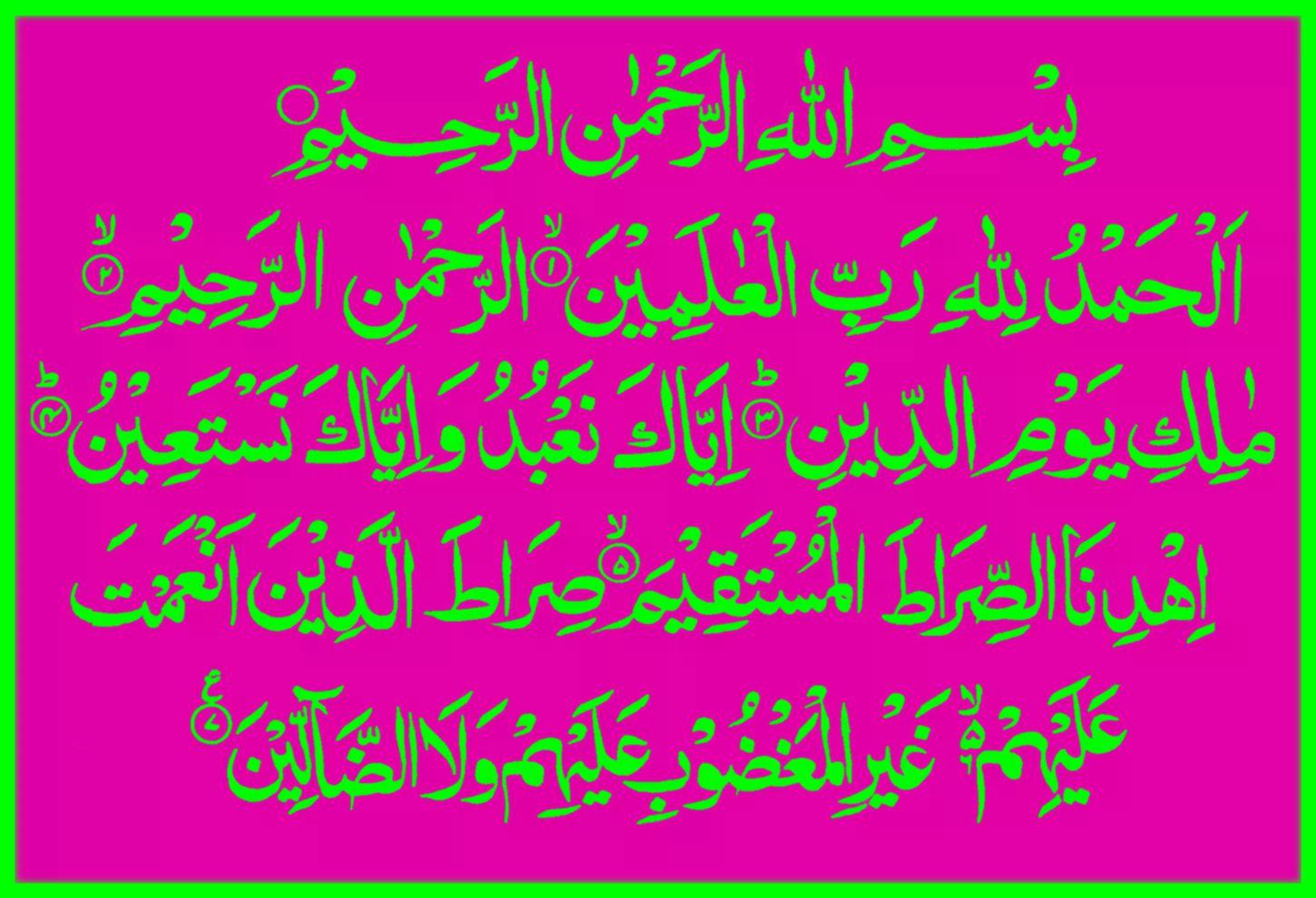 Surat Al Fatihah Arab Latin Tafsir Dan Artinya