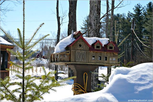 Casa Miniatura de Decoración en la Granja Heritage Farm Pancake House
