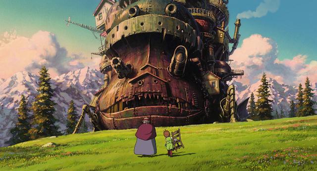 Película El castillo ambulante de Studio Ghibli, dirigida por Hayao Miyazaki en el año 2004