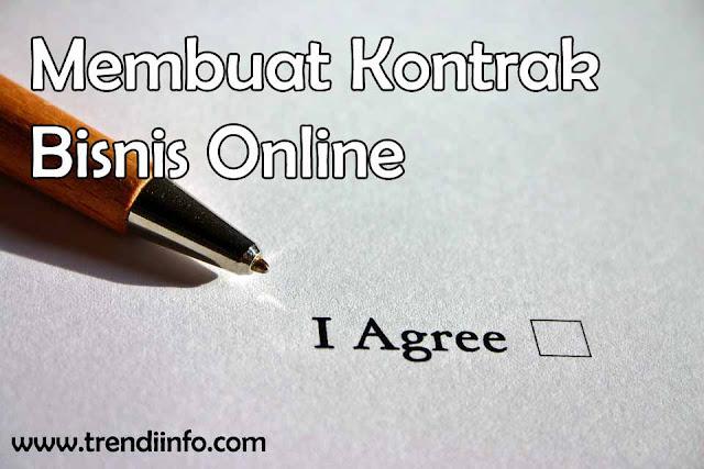 Membuat kontrak bisnis online