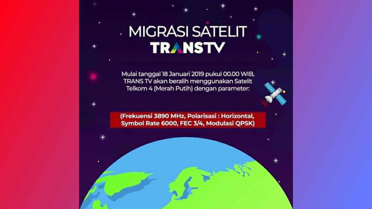Trans TV Resmi Migrasi Ke Telkom 4 (Merah Putih)