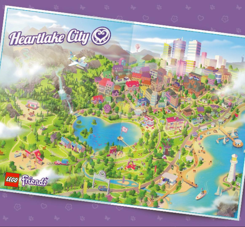 Fan Designed Lego Friends Heartlake City: LEGO Friends Inspire Girls Globally: Map Of HEARTLAKE CITY