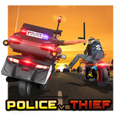 Download Game Police vs Thief MotoAttack Apk v1.0 Mod (Unlimited Cash)