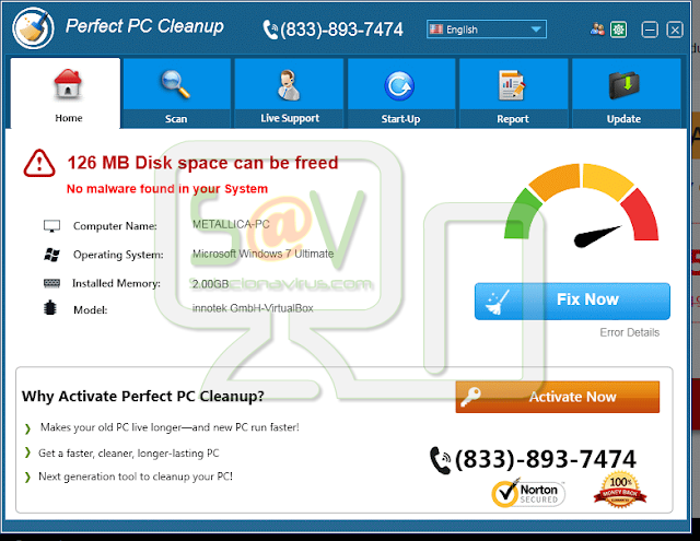 Perfect PC Cleanup (Falso optimizador)