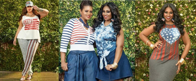 Ashley Stewart Patriotic Outfits