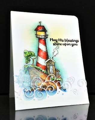 Tiddly Inks, Kecia Waters, Copic markers, lighthouse