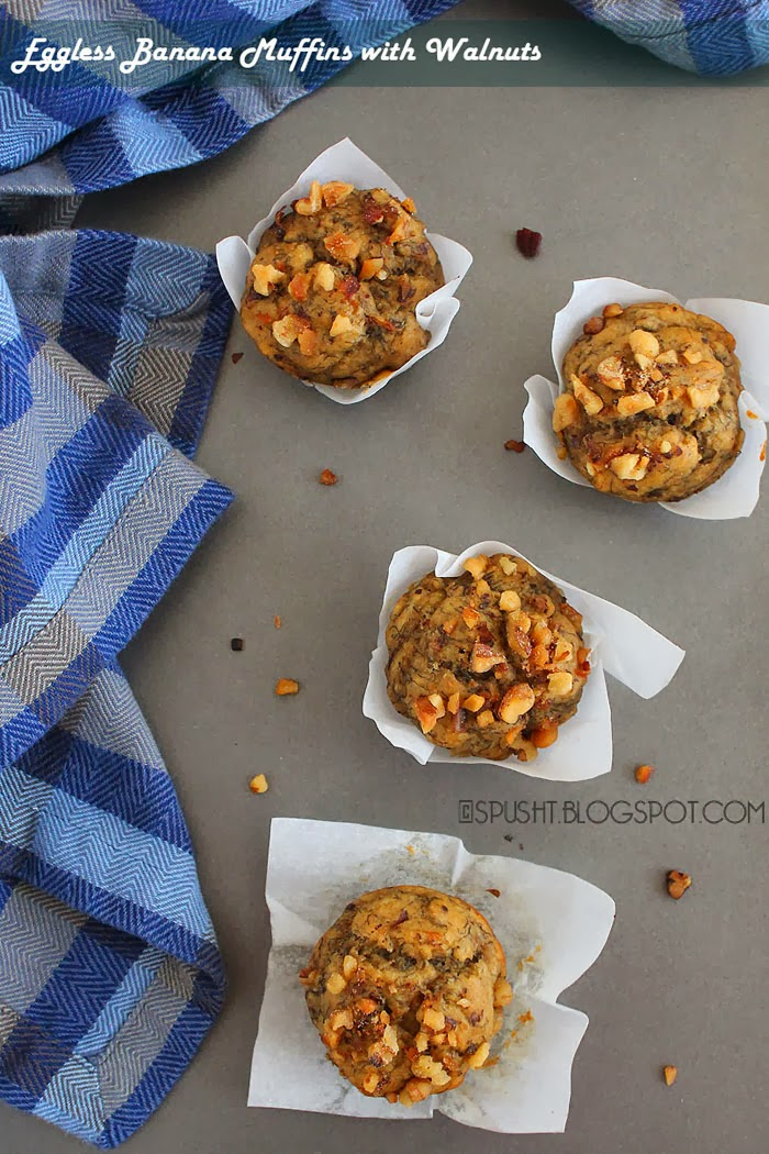 Spusht   Banana Walnut Muffins   Muffin Recipes