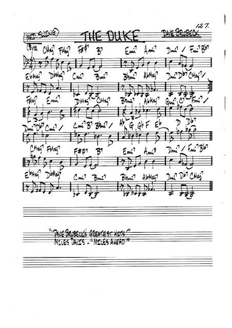 Partitura Violonchelo Dave Brubeck