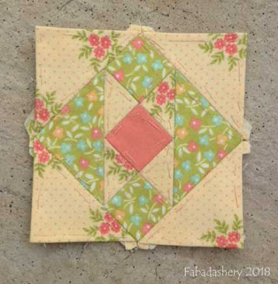 The Farmer's Wife Sampler Quilt (20's)  Block 46 Hill and Valley