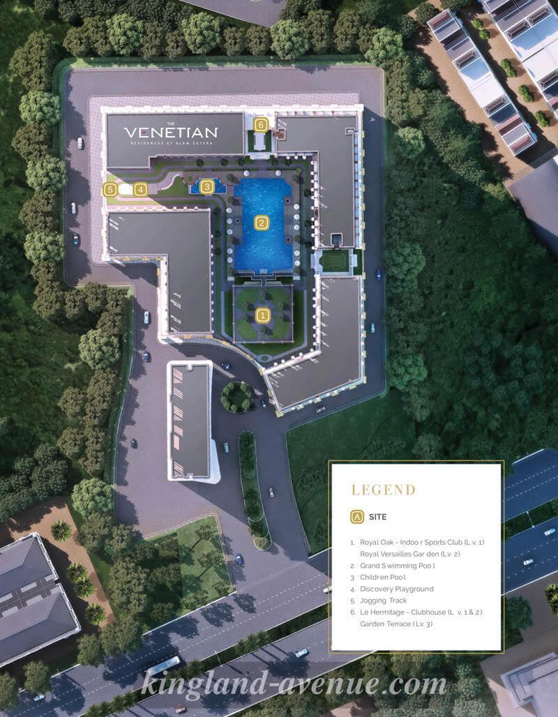 Blok Plan The Venetian Residences Kingland Avenue