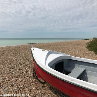 Boat on the beach at Goring