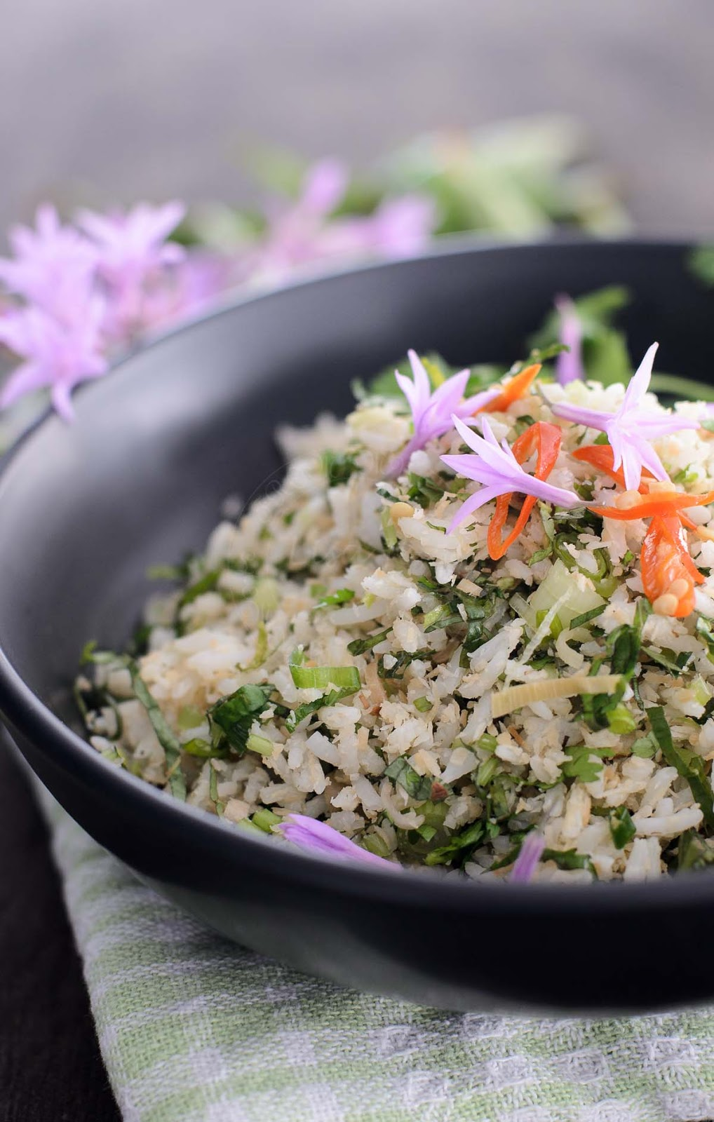 Malaysian vegetarian Rice Salad photo