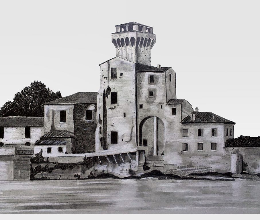 11-The-Citadel-Pisa-Francesco-Messina-Urban-Sketches-and-Architectural-Drawings-from-Italy-www-designstack-co