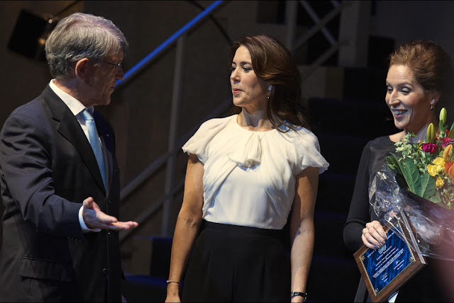 HRH The Crown Princess Mary of Denmark presents Wednesday, February 4, 2015 Cancer Society Merit Award in 2015