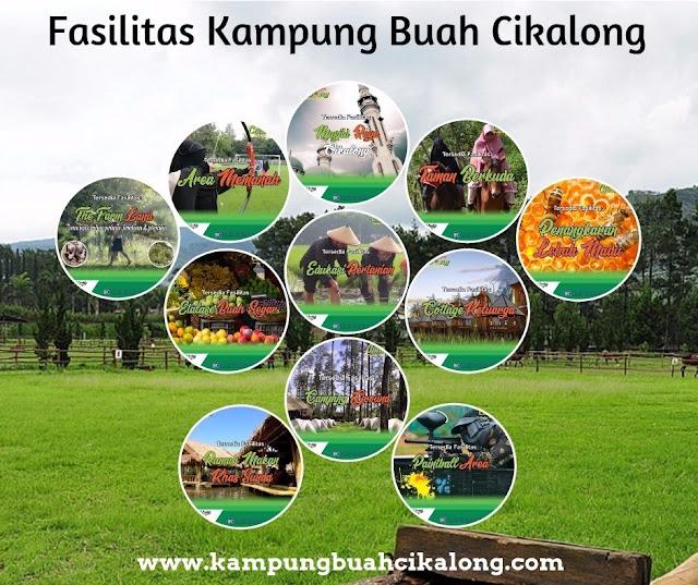 fasilitas wisata kampung buah cikalong