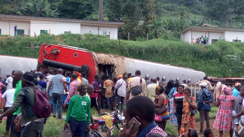 55 dead, hundreds injured as train glides off railway in Cameroon