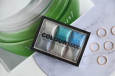 Modro stříbrná paletka očních stínů Technic.