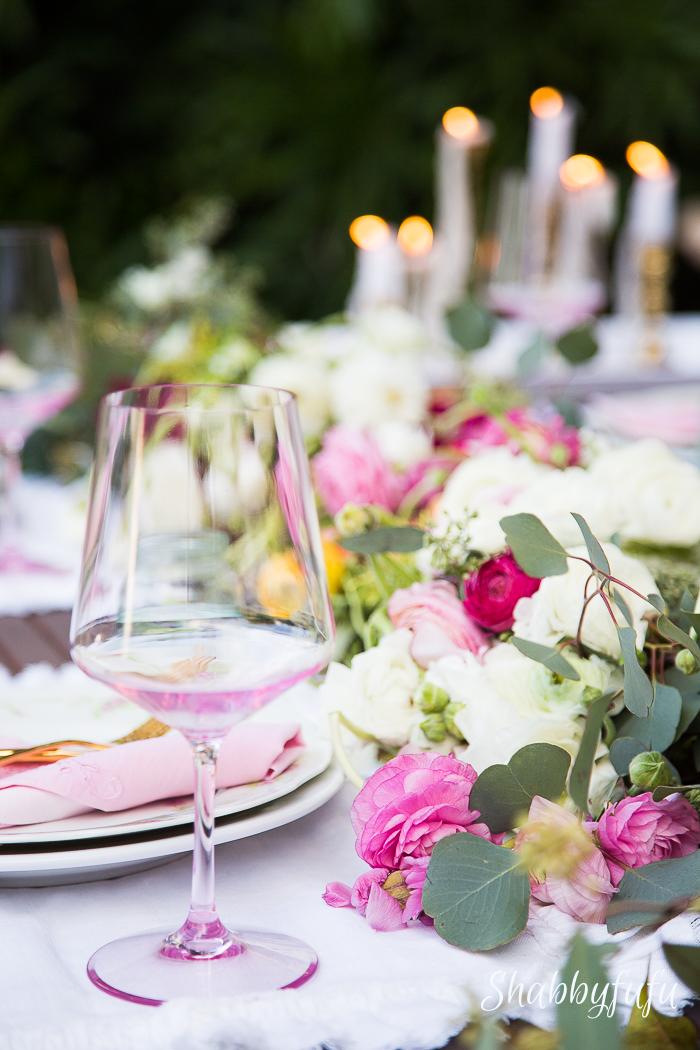 floral table setting ideas shabbyfufublog
