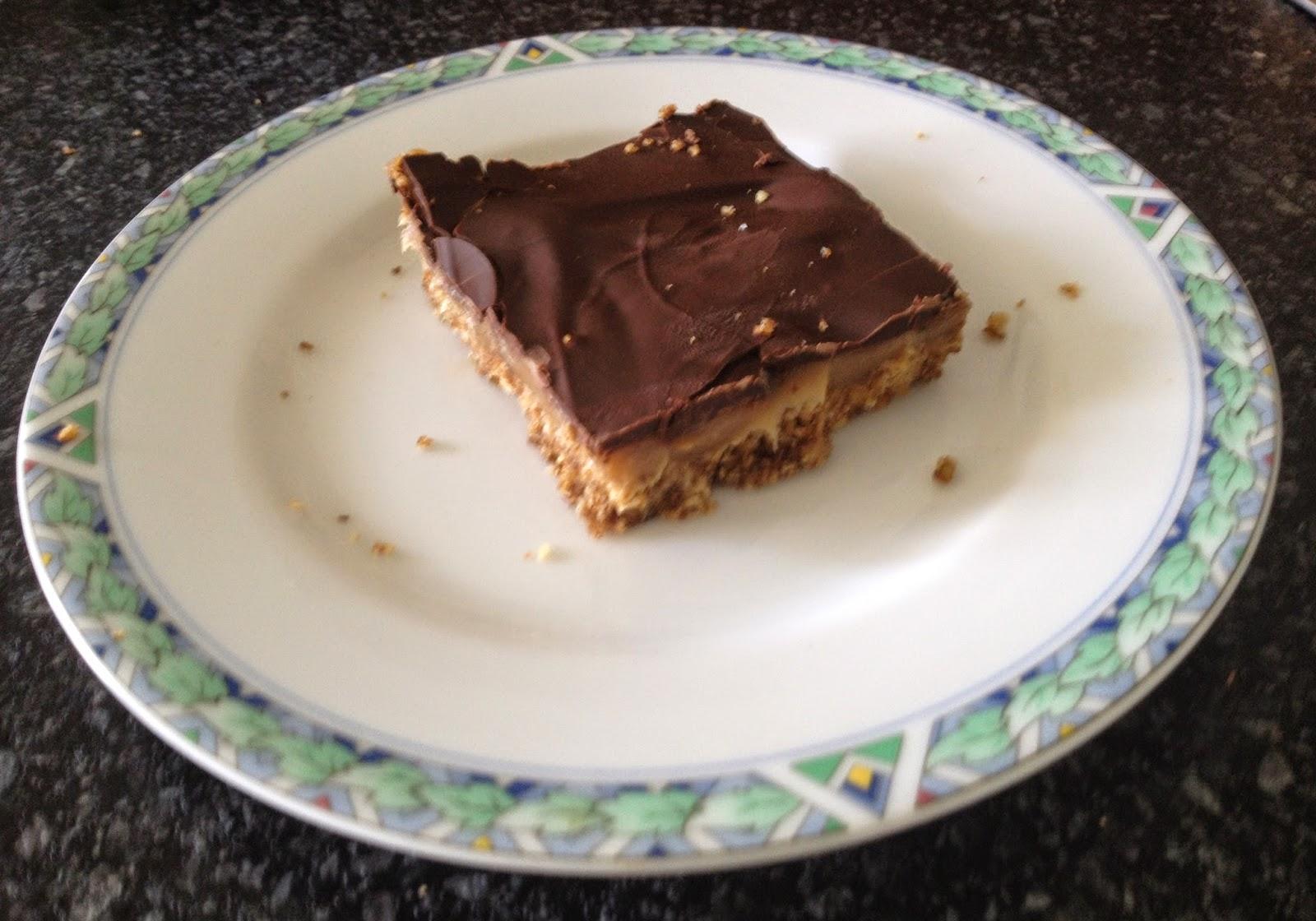 Twix taart (Millionaires shortbread)
