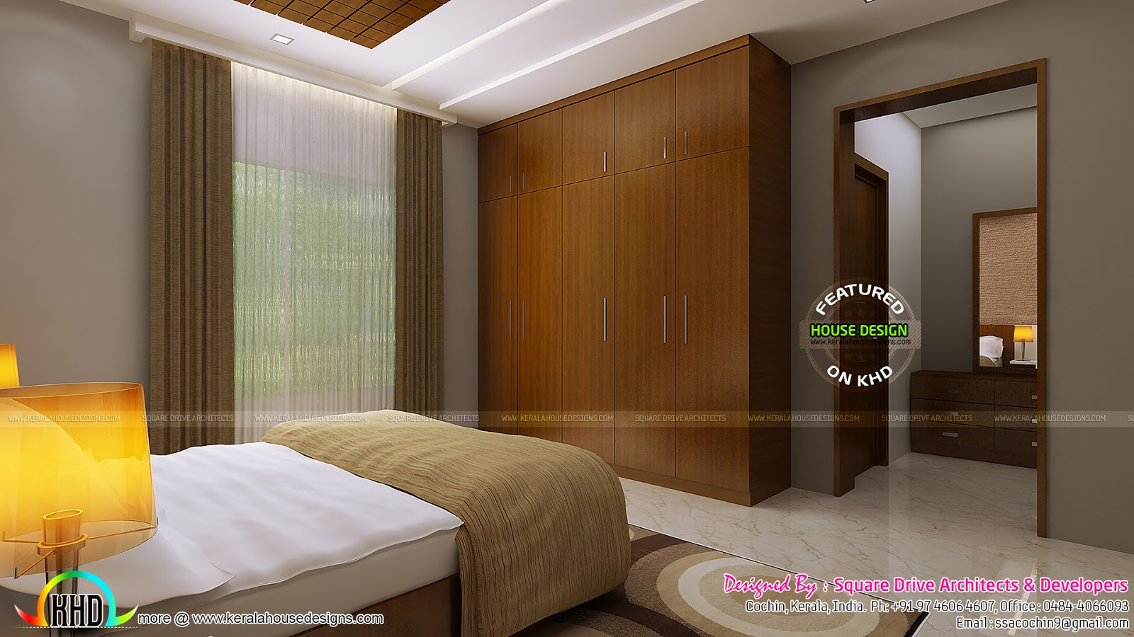 Master and guest bedroom interiors kerala home design and floor plans - Guest house interior design ...