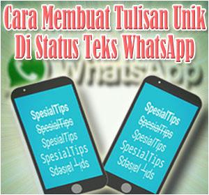 Cara Membuat Tulisan Unik Di Status Teks WhatsApp