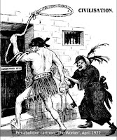 An anti-hanging cartoon from the 'Worker', 1922.