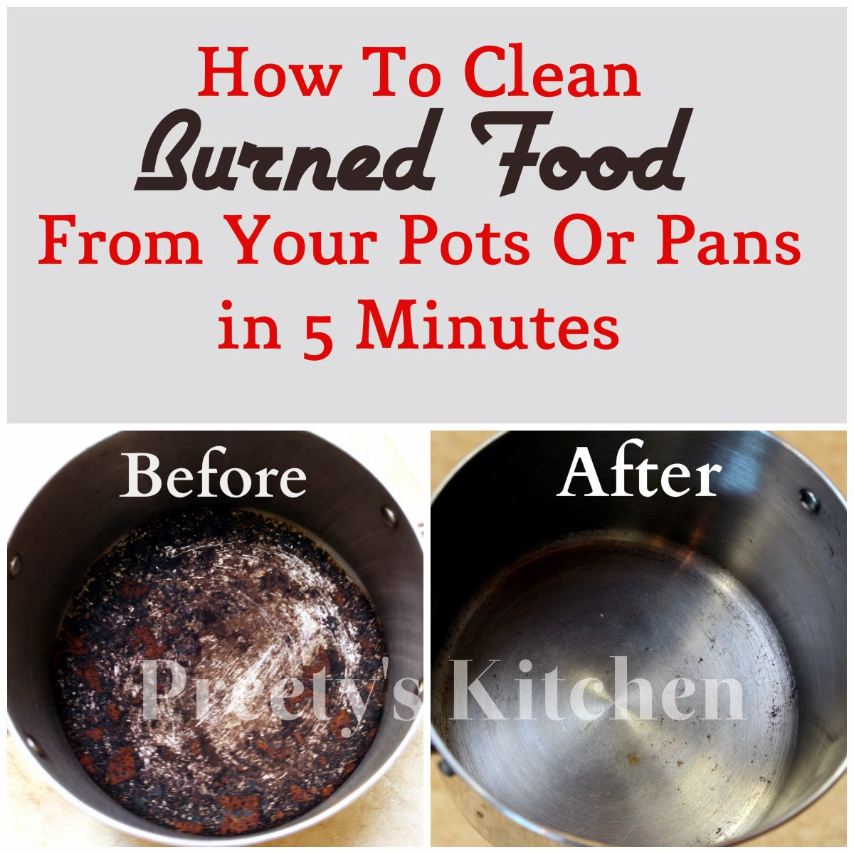 How To Clean Burned Food From Your Pots Or Pans In 5 Minutes