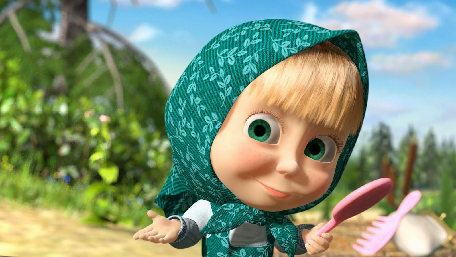Download Wallpaper Gambar Masha And The Bear Kualitas HD Full