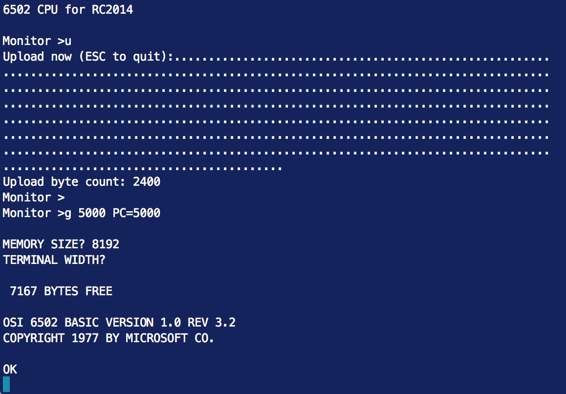 Ancient Computing: MS BASIC for the RC2014 6502 CPU Part 2