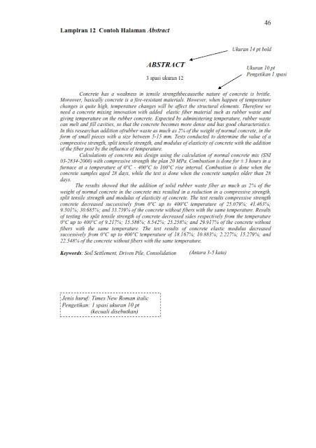 Sistematika Penulisan Tugas Akhir Teknik Sipil