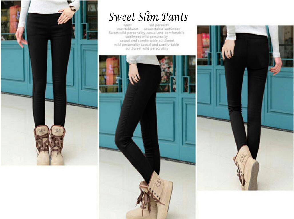 Jual Celana Panjang Sweet Slim Pants - 13387
